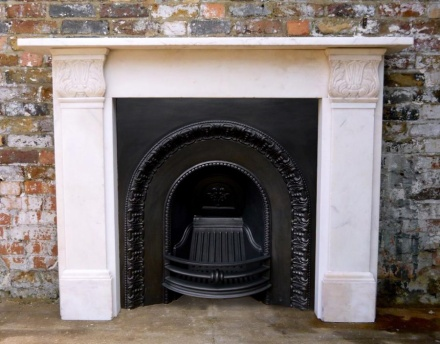 antique regency marble fire surround